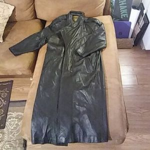 IOU LEATHER Matrix Trench Coat SteamPunk Goth